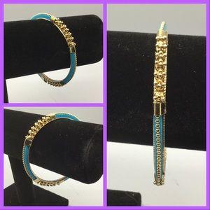 3/$5 Bangle, turquoise & goldtone
